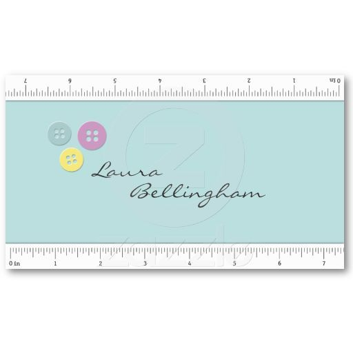 Measuring tape seamstress business card business cards business measuring tape seamstress business card diy customize reheart Gallery