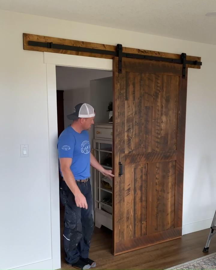 Sliding barnwood door
