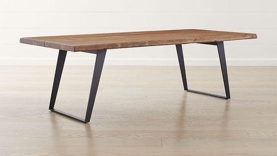 Live Edge Look Dining Table Dining Table Metal Dining