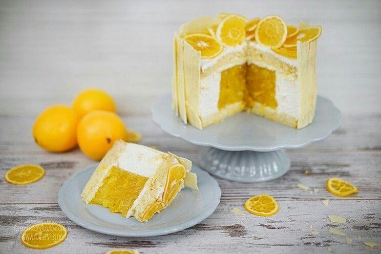 Mango-Orangen mit Weißer  Schokoladen-QuarkSahne
