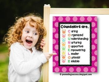 """Counselor: This counseling poster would be great for a school counselor's office door. It features a pink polka dot background, adorable owls, and a """"Counselors Are..."""" quote. Print as many as you need for personal, gift giving use. https://www.teacherspayteachers.com/Product/Counselor-Gifts-1601636?aref=68ioguo5"""