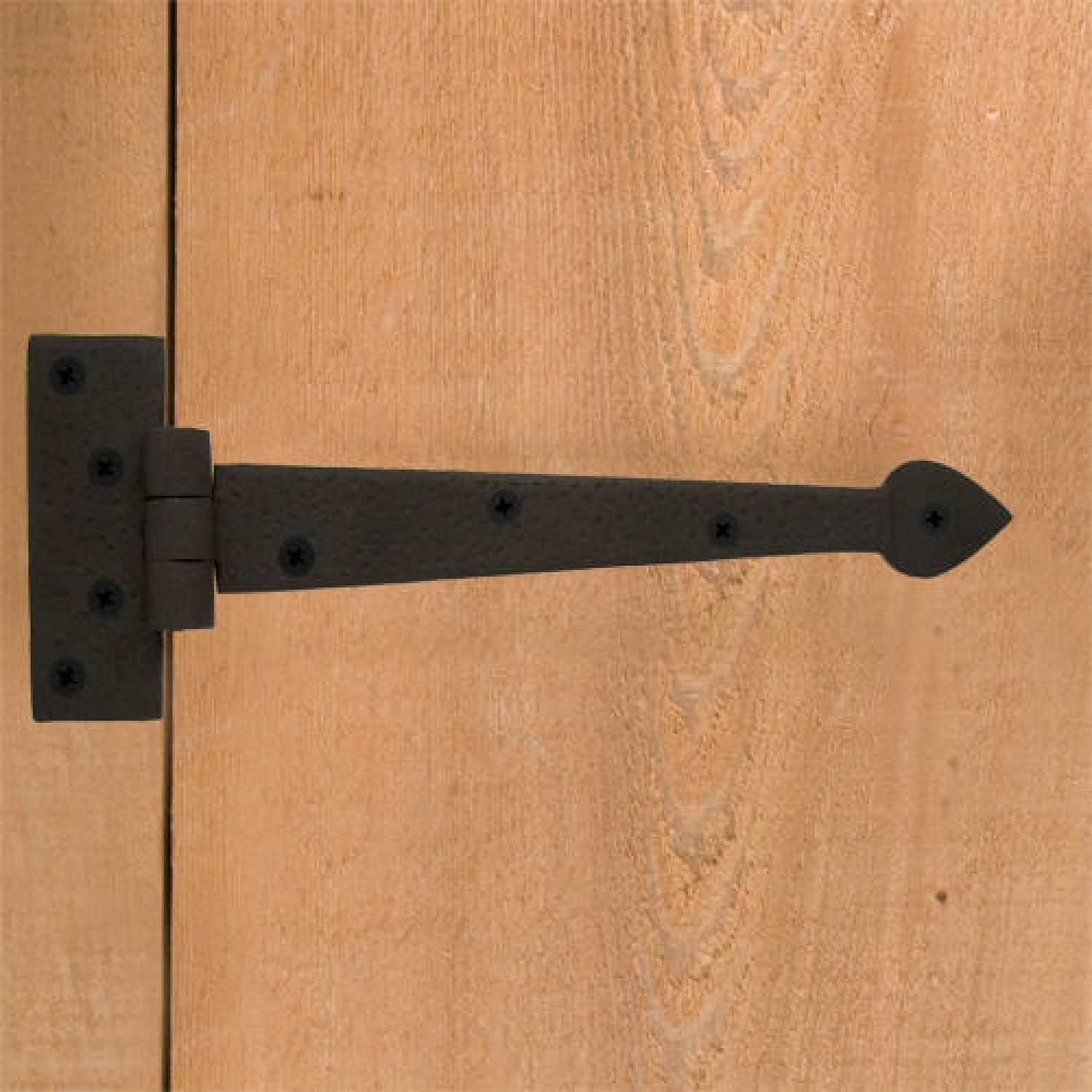 Barn door strap hinges - Griffin Hand Forged Iron Strap Hinge Door Hinges And Straps Door Hardware