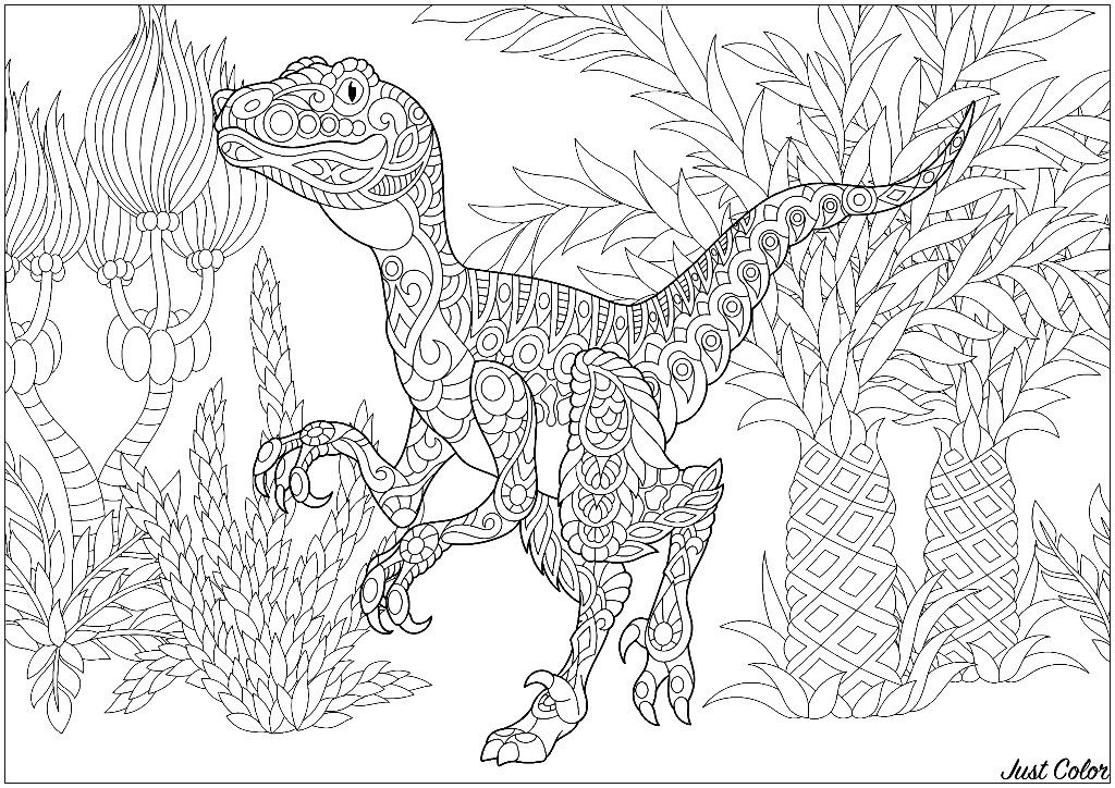 Jurassic Park Velociraptor Coloring Page Jurassic Park Tattoo Dinosaur Coloring Dinosaur Coloring Pages