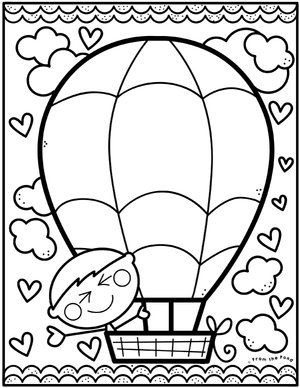 Color Hot Air Balloon Jpg Color Club Art Drawings For Kids Coloring Pages