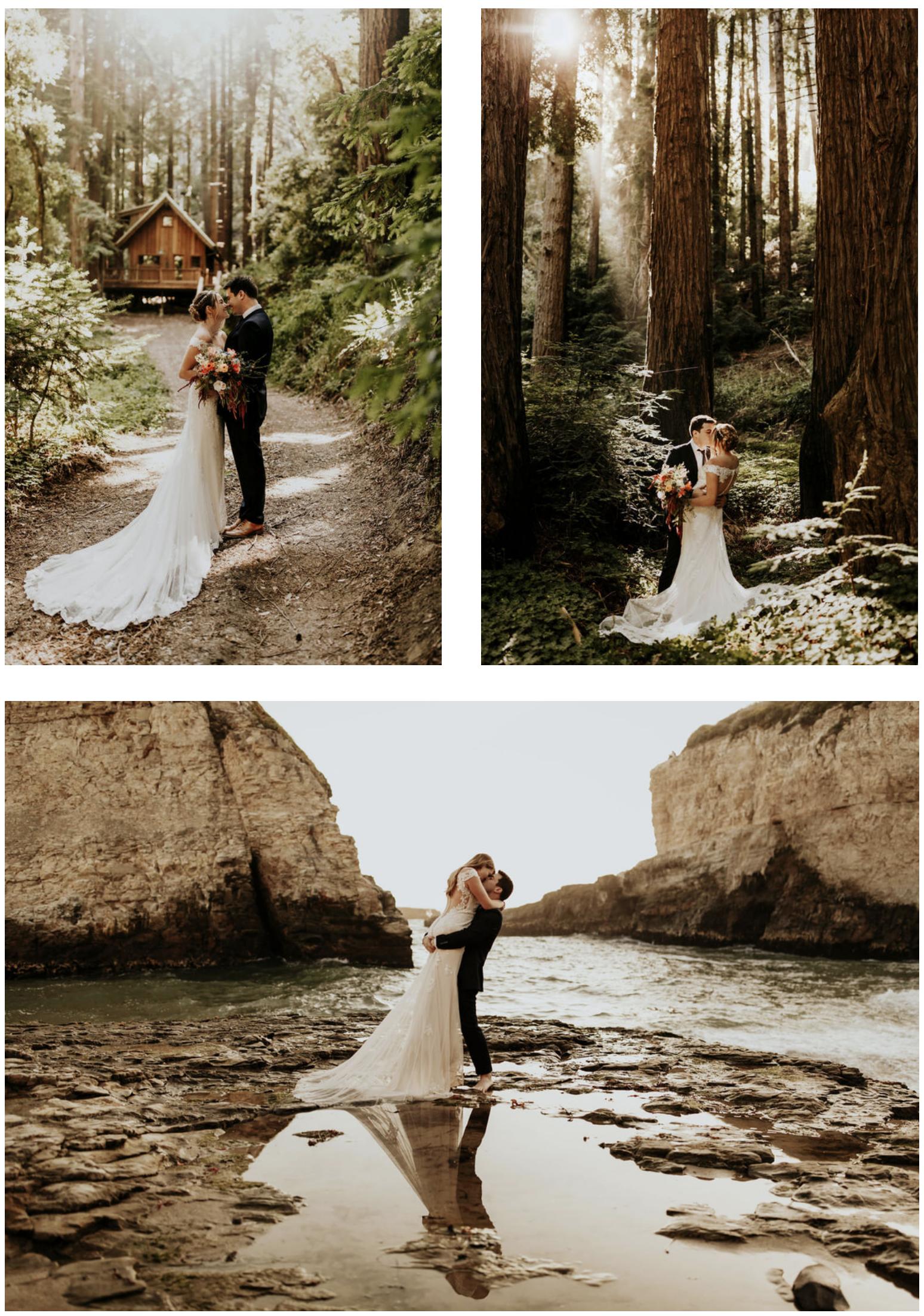 Boho California Redwoods Wedding Redwood Wedding Redwood Wedding California Santa Cruz Wedding Photographer