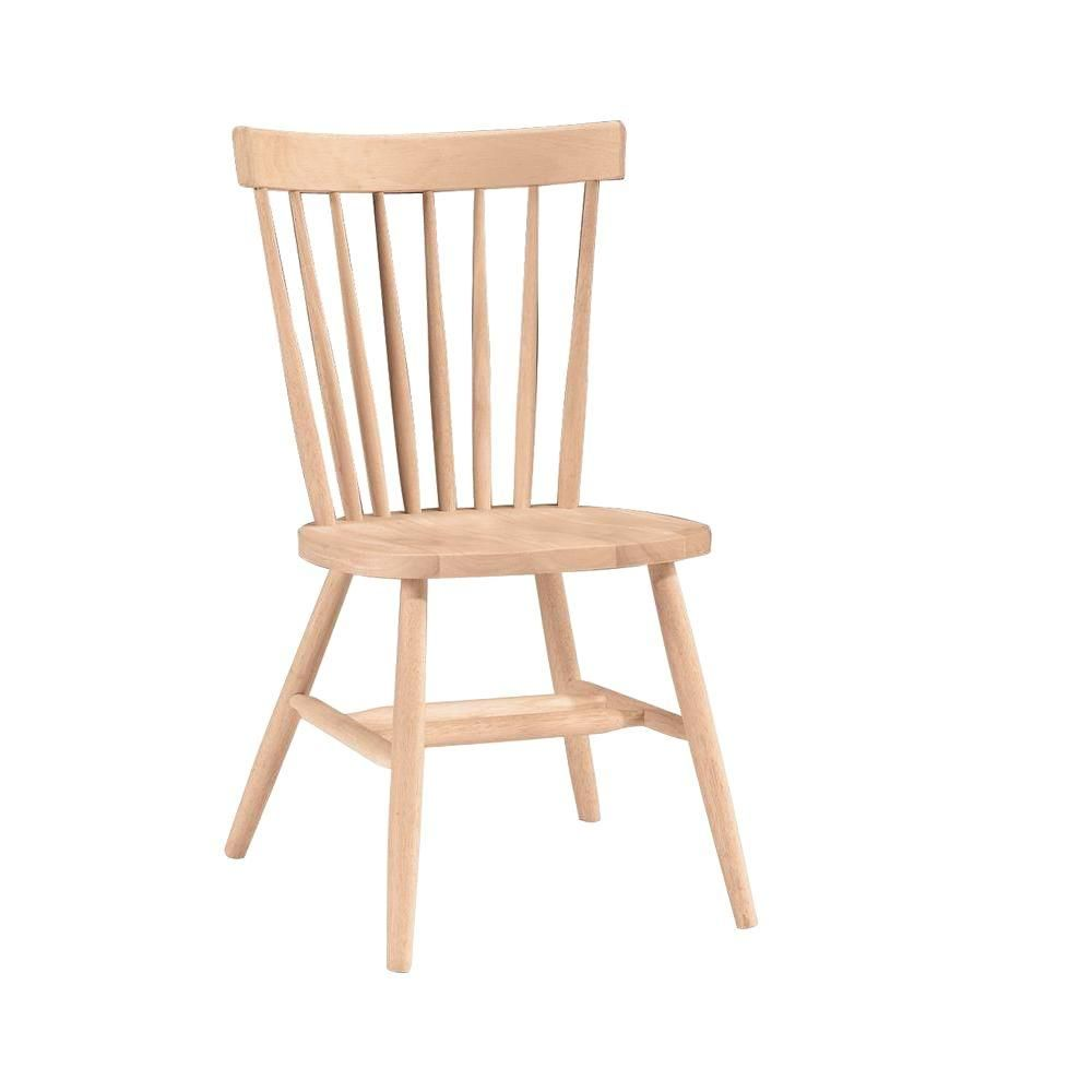 Stylewell Stylewell Unfinished Wood Windsor Dining Chair Set Of 2 19 50 In W X 35 In H C In 2020 Unfinished Dining Chairs Dining Chairs Solid Wood Dining Chairs