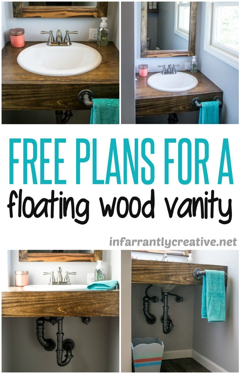Diy Floating Wood Vanity Floating Bathroom Vanities Wood