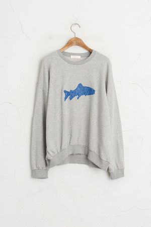 Shark Sweatshirt, Grey