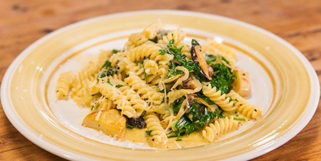 Creamy trivelle pasta with mushrooms spinach favorite recipes food forumfinder Choice Image