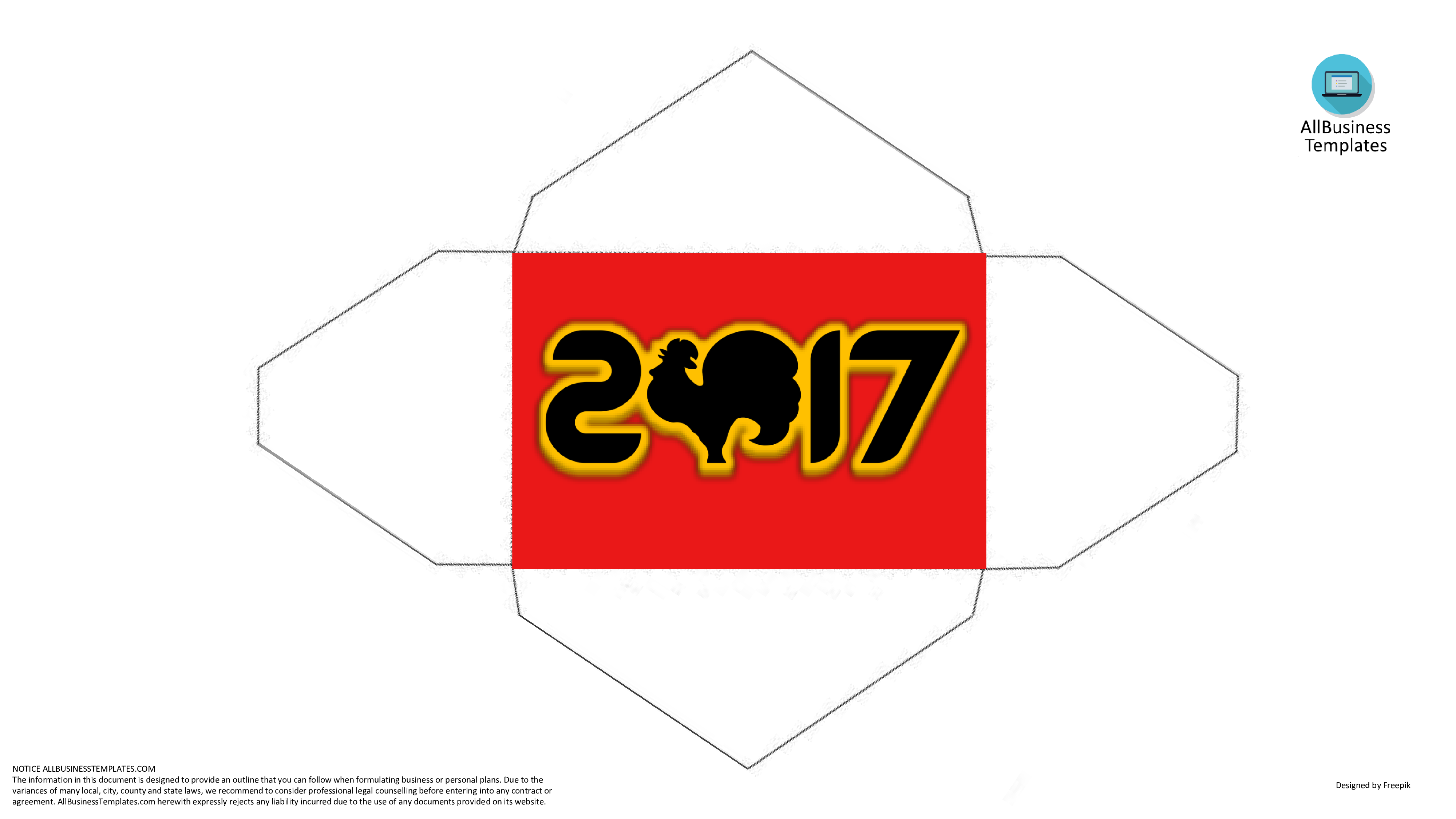 Red Envelope Chinese New Year Rooster Sample