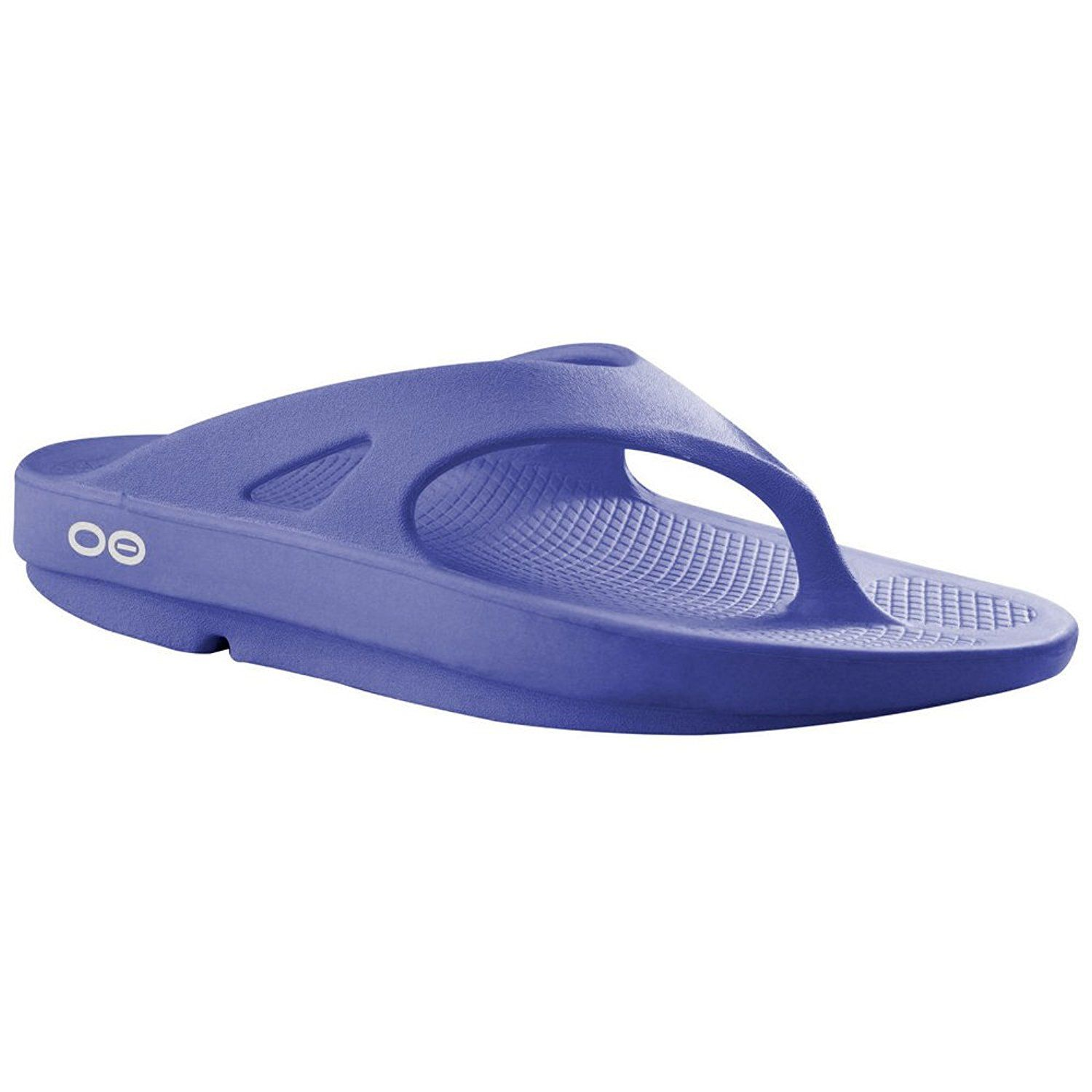 b19a94ae8947 Oofos Black Sport recovery thong sandals with oofoam technology. OOFOS  OOriginal Unisex Thong Sandal M6 W8 Periwinkle    Find out more about the  great ...