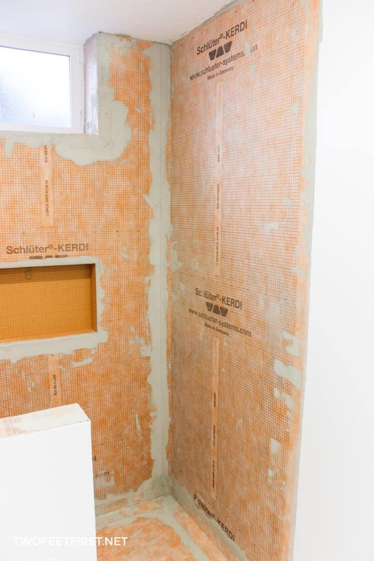 How To Prep A Shower For Tile With Schluter Kerdi Shower Wall