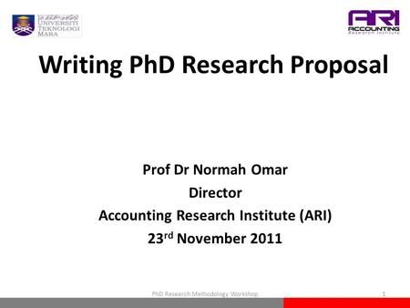 Writing Phd Research Proposal Prof Dr Normah Omar Director