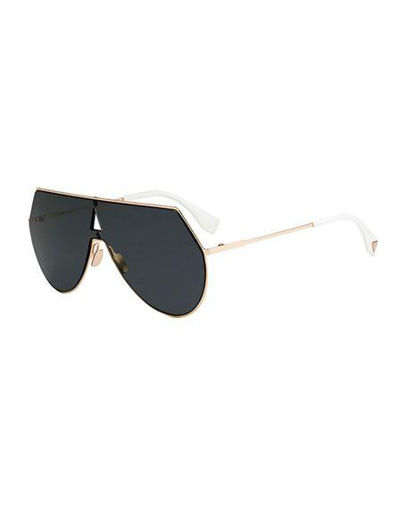 21685bf64bb Fendi eyeline mitered shield sunglasses gold fendi jpg 456x570 Fendi  eyeline sunglasses