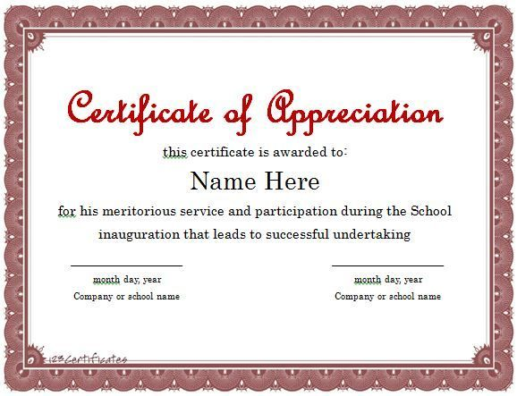 Certificate Of Appreciation Templates Free Download Image Result For Certificate Of Participation Template Editable Free .