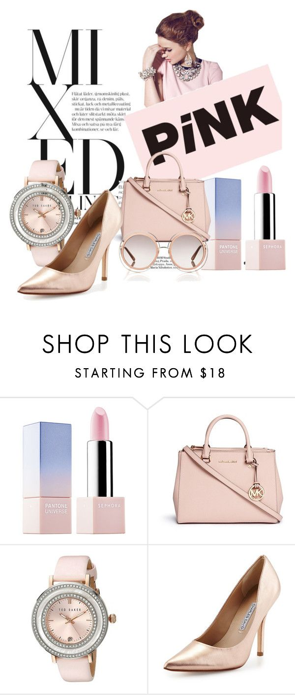 Mixed feelings: Rose&Gold by duduree on Polyvore featuring Charles David, Michael Kors, Ted Baker, Chloé and Sephora Collection