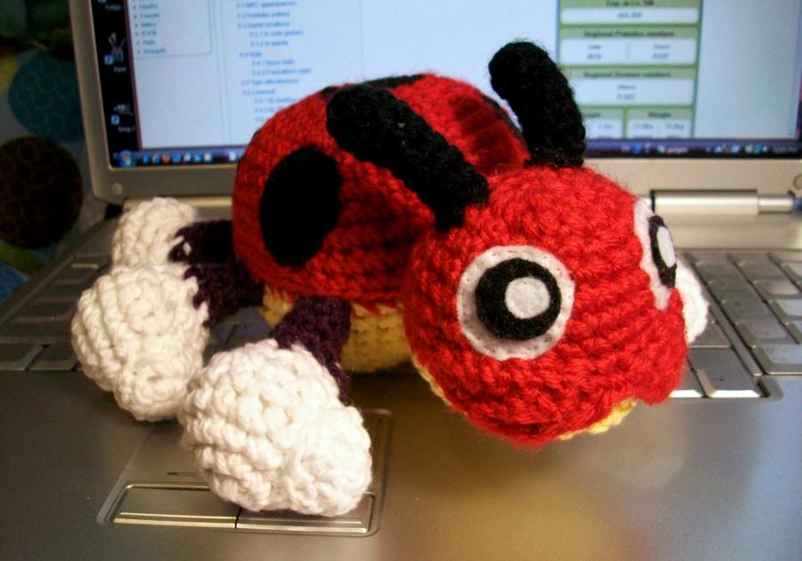 Ledyba Crochet Plush by ~First-Mate-Kate on deviantART