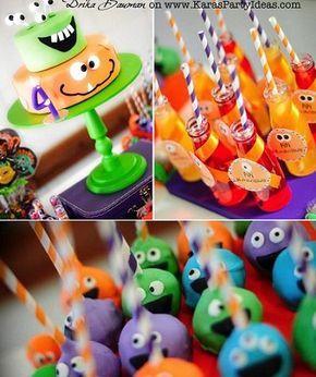 fiesta de cumpleanos de monstruos   souvenirs   Pinterest ...