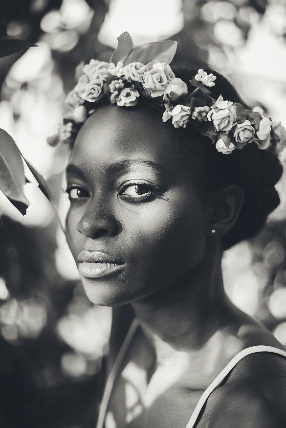 Black and White, pretty light, greenhouse Washington, D.C. Portrait Photography