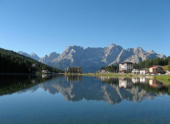 Misurina Dolomites background