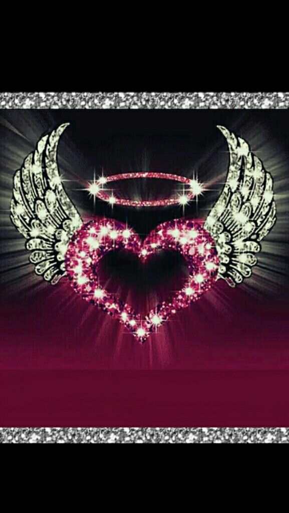 Angel Heart Corazones Angeles Alas Wings Ideas De Fondos