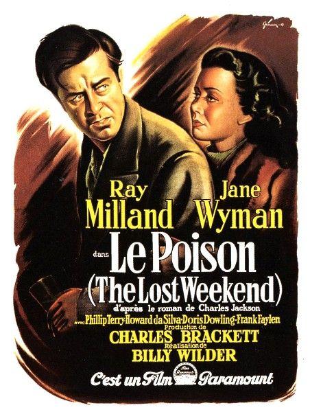 The Lost Weekend Movie Retro Poster American Film Noir Photo Milland Wyman Star
