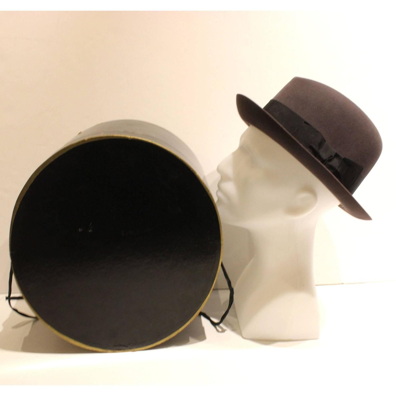 9b805d3ef95 Vintage Brooks Brothers Grey Fedora with Original Hat Box Mens