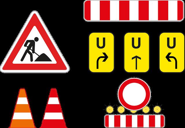 Kostenloses Bild Auf Pixabay Baustelle Umleitung Absperrung Baustellenschild Baustelle Kostenlose Bilder