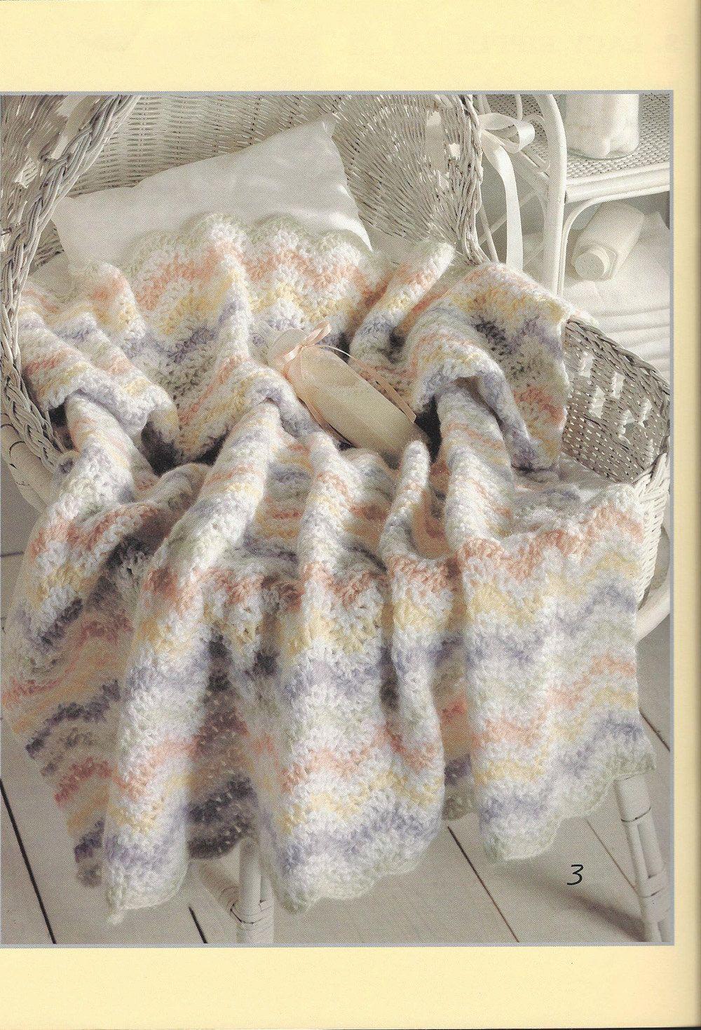 Ao longo dos Afegãos do Bebê do Arco-íris malha itens decorativos Criações -  /  Over The Rainbow Baby Afghans  Knit Knacks Creations -