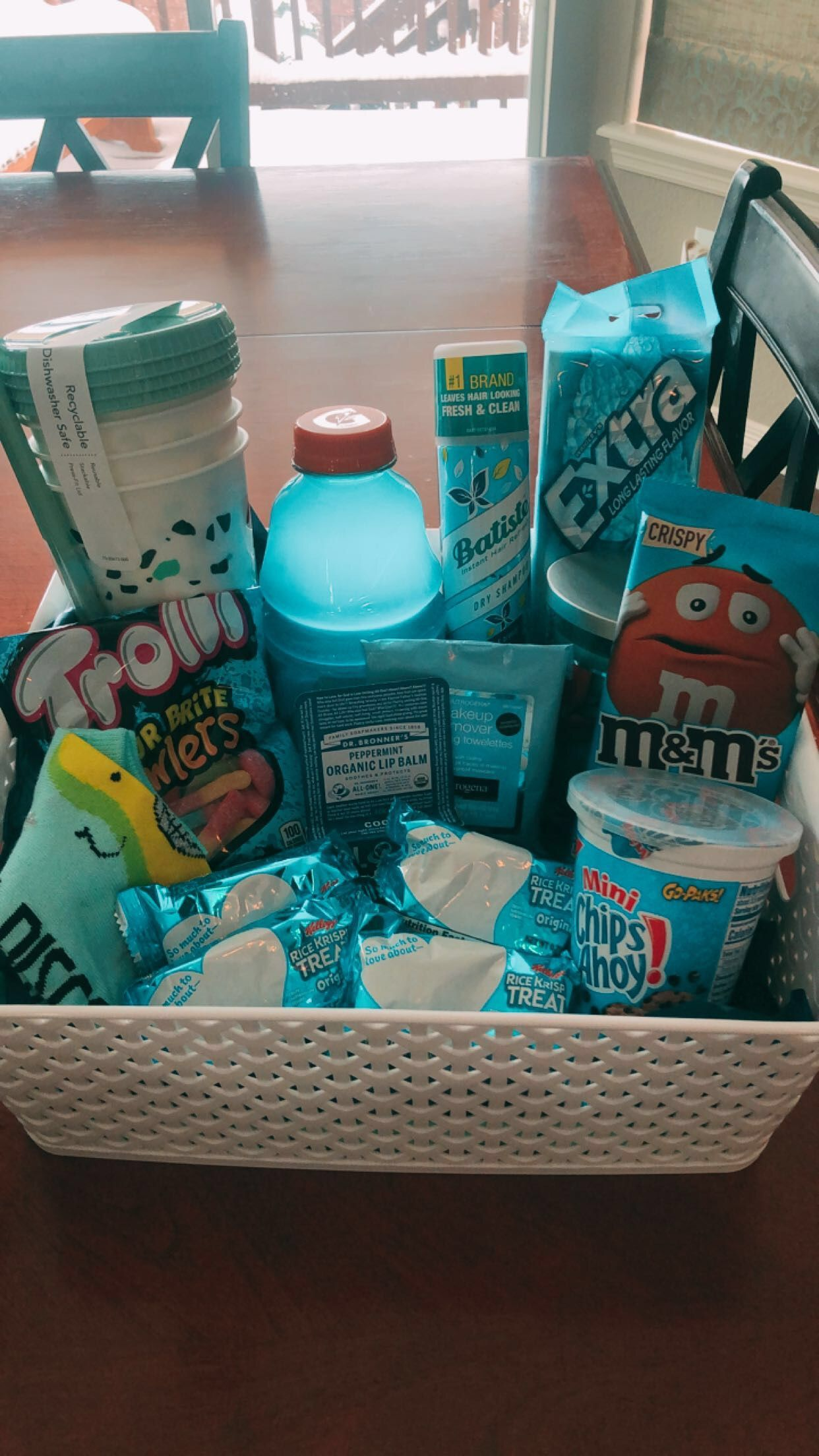 Blue gift basket in 2020 birthday gifts for best friend