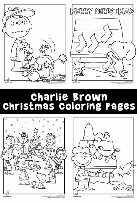 Six free coloring pages from the classic Charlie Brown Christmas ...