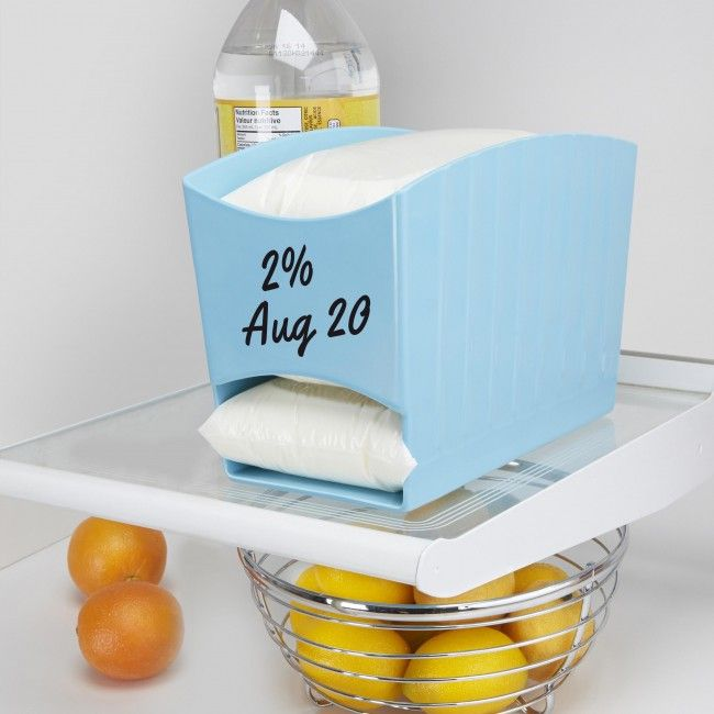 Keep Your Fridge Tidy And Organized With Our Fresh Milk Bag Dispenser The Holds Up To 3 Bags Of Durable Melamine