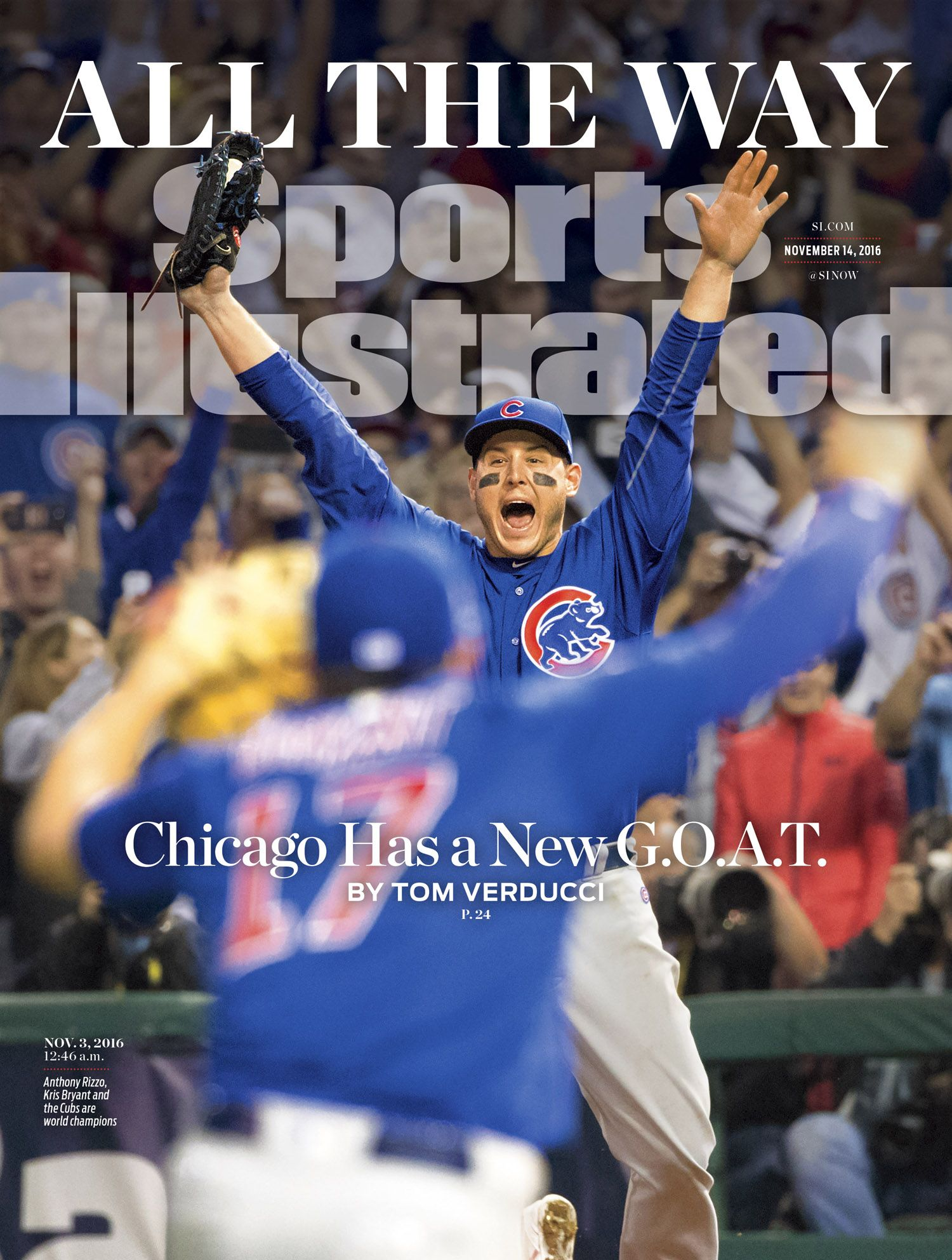 61f0e497 First Look: World Series champion Chicago Cubs on cover of Sports  Illustrated
