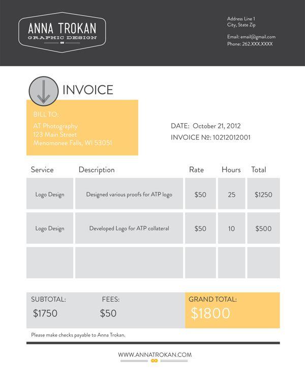 Invoice Graphic Design Invoice Beautifulinvoice Graphicdesignedinvoice Invoiceenvy Invoicein Invoice Design Template Invoice Design Graphic Design Layouts