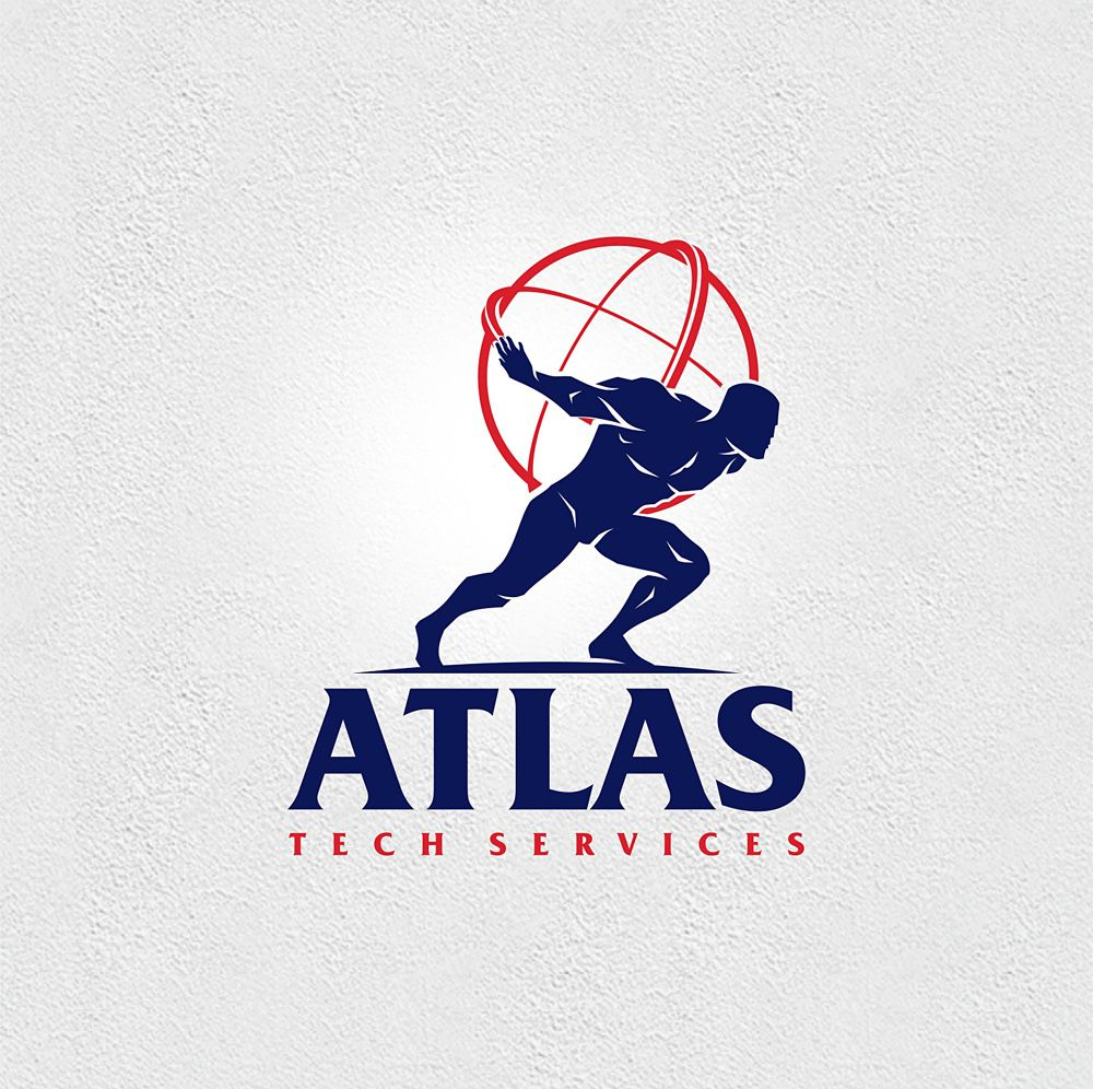 Atlas Tech Services Logo Branding Identity Brand Identity Pack