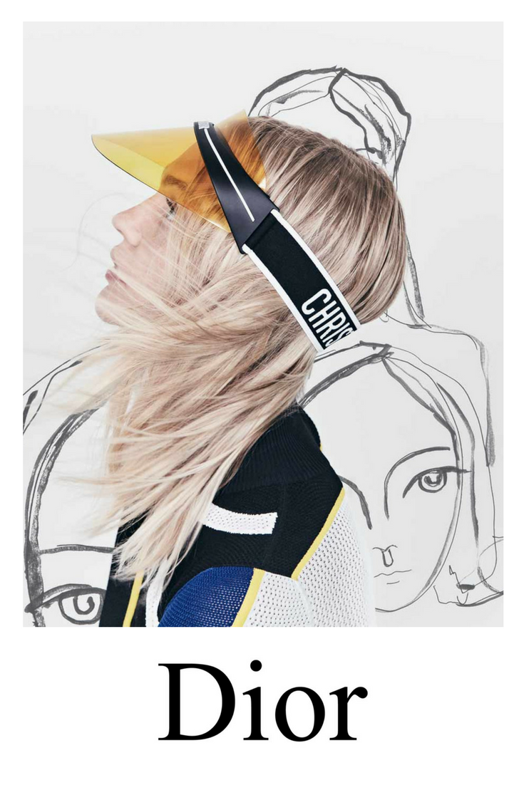 fd6b680059679 As seen on Kim Kardashian the new Dior Club1 visor is the hottest accessory  for any and all fashionable women.