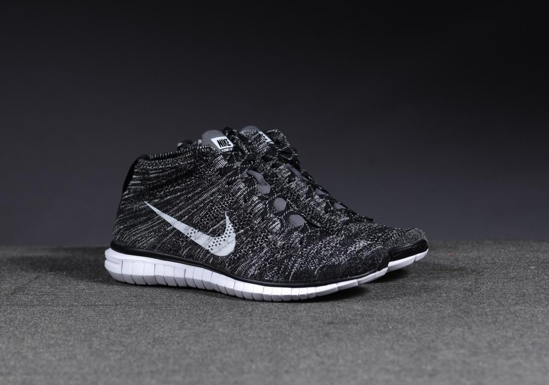 premium selection 5f0a2 0a1a1 Nike Free Flyknit Chukka Black Pure Platinum Detailed Pictures   Kix and  the City  Kix