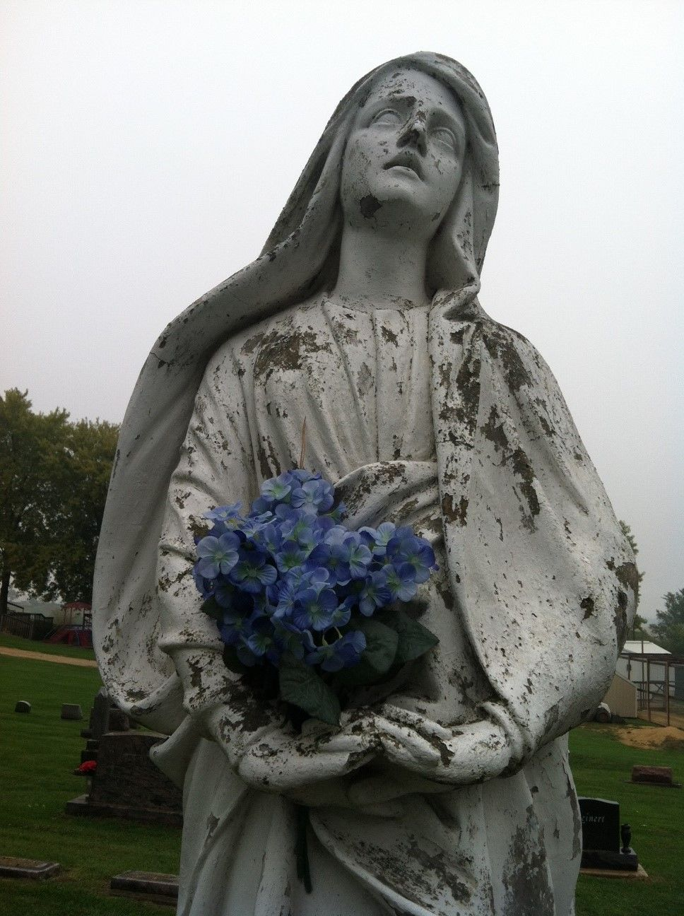 Angel at Ss. Peter and Paul Cemetery, Sherrill, IA
