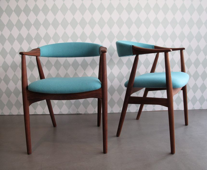 vintage teak stuhl st hle pinterest stuhl polsterstoff. Black Bedroom Furniture Sets. Home Design Ideas