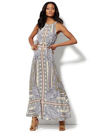 Shop Paisley Halter Maxi Dress . Find your perfect size online at ...