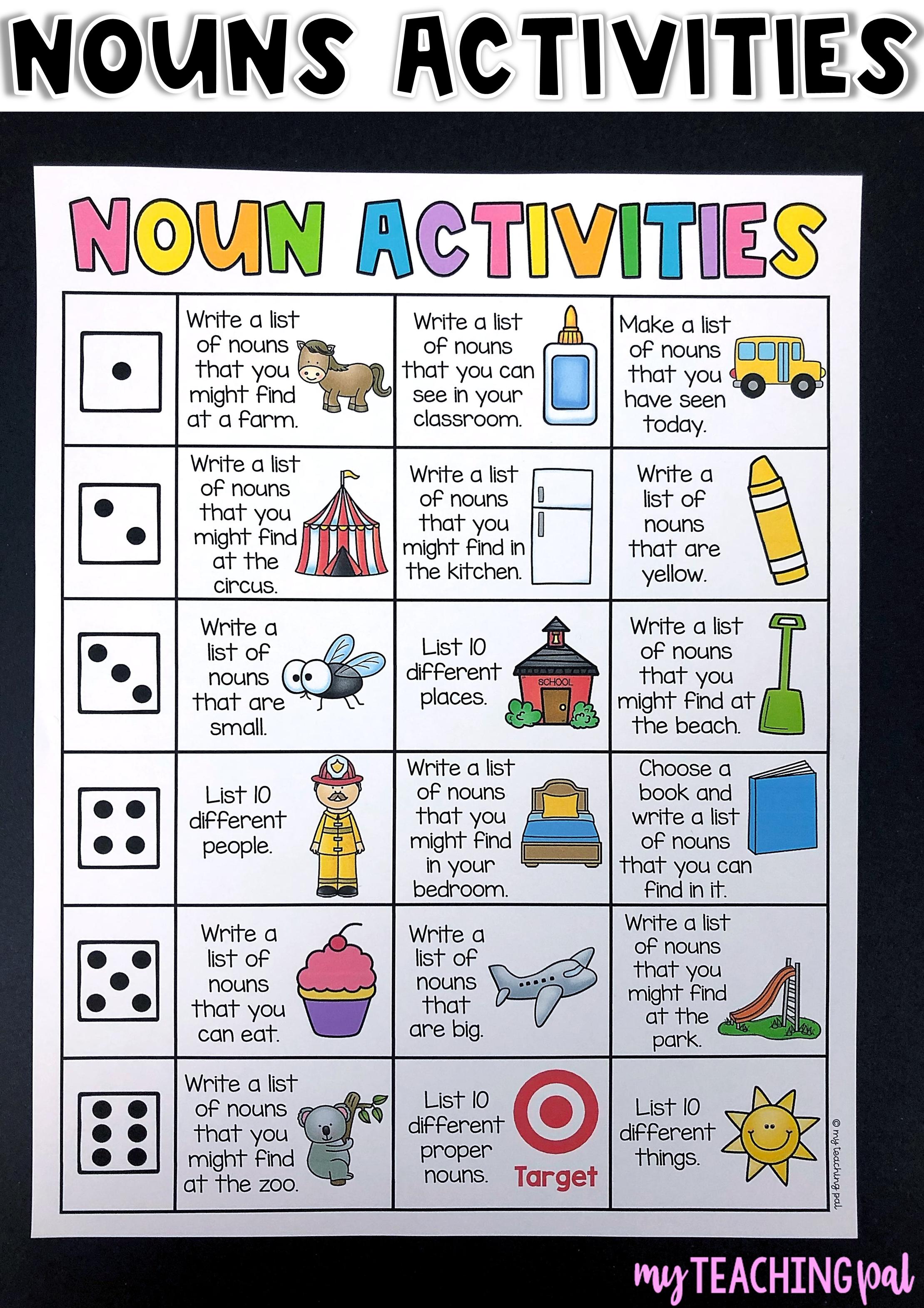 Roll An Activity Literacy Centers Distance Learning Nouns Activities Teaching Nouns Teaching [ 3141 x 2219 Pixel ]