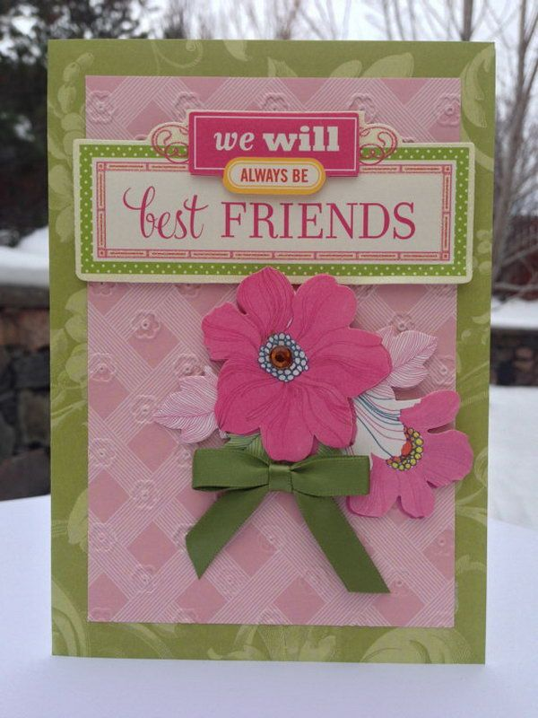 Attractive Friendship Card Making Ideas Part - 14: 3D Friendship Card. This Best Friends Card Gift Is A Pretty Simple And  Straight Way