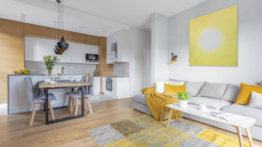 Modny Salon Z Kuchnia I Jadalnia Wnetrza Z Polskich Domow Galeria Dobrzemieszkaj Pl Open Plan Kitchen Living Room Interior Design Home Decor