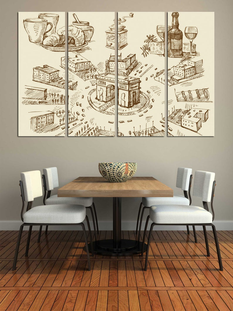 Restaurant Wall Art Kitchen Decor