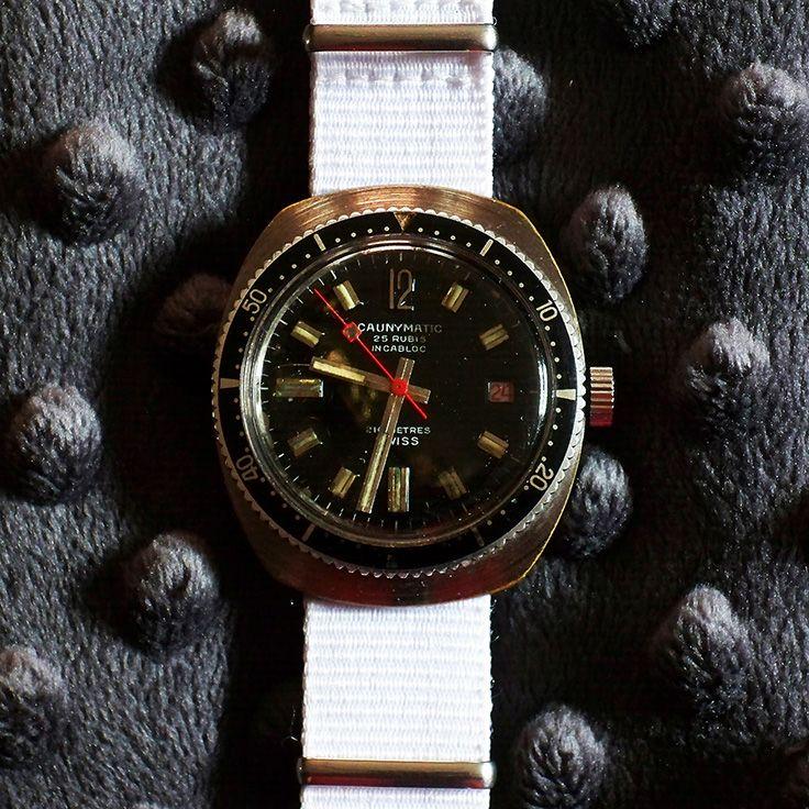 65b1add90576 Cauny Prima Caunymatic 25 Jewel Automatic w Date PCB 1961