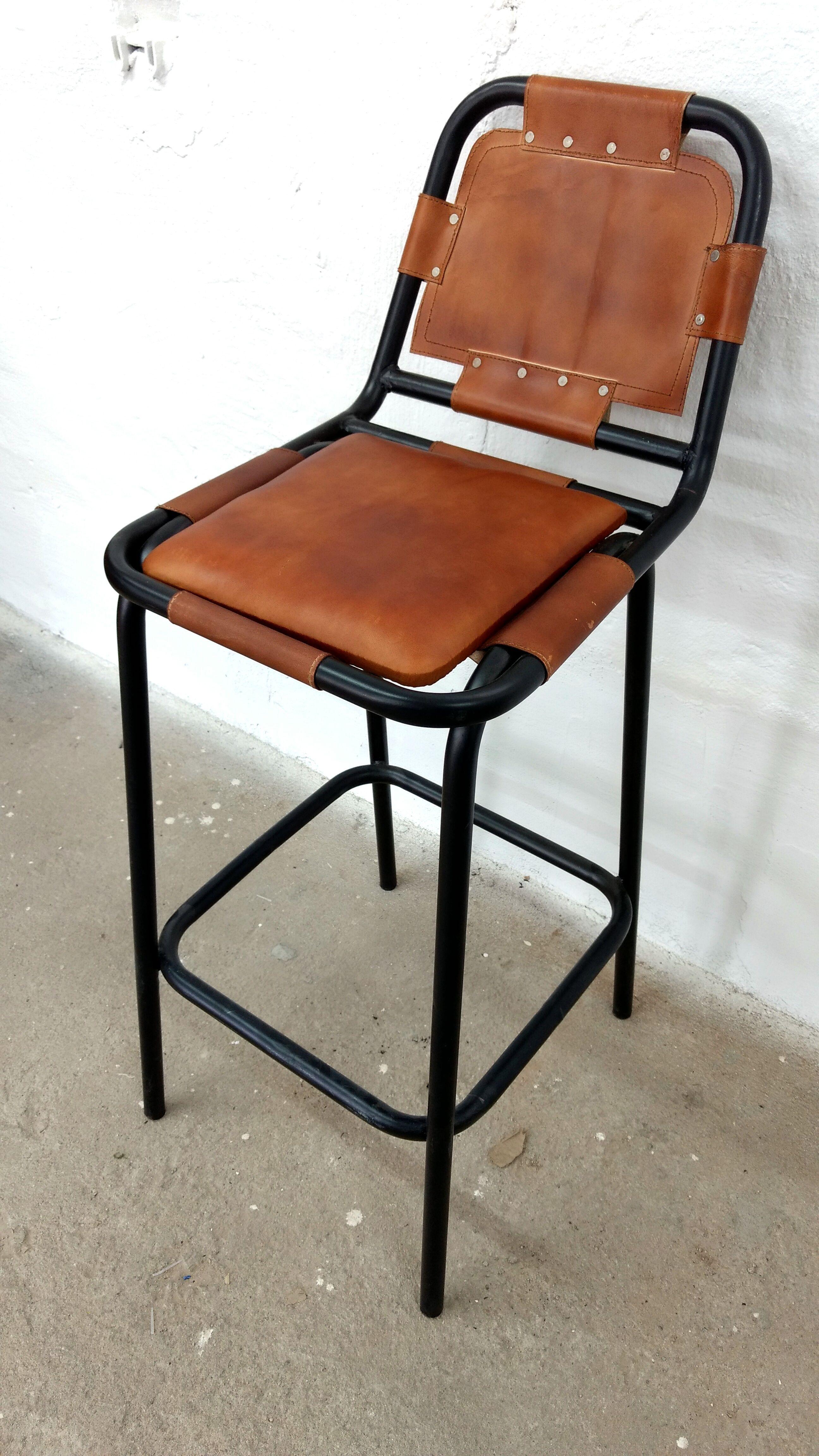 Barhocker Bar-Stuhl Tresenhocker Leder braun Hocker Lounge Fabrik ...