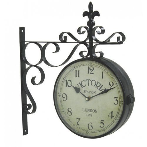 vintage victoria station railway station clock london upper deck httpwww