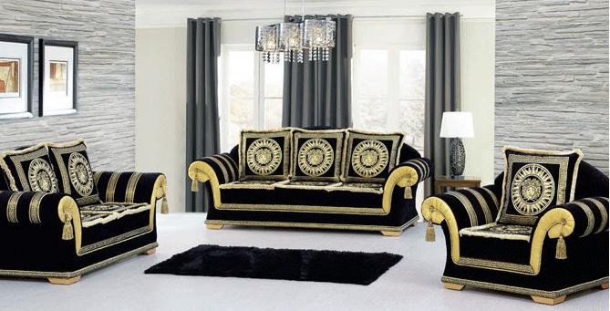 interdecorshop designer couchtisch medusa marmor optik wohnzimmertisch tisch glastisch. Black Bedroom Furniture Sets. Home Design Ideas