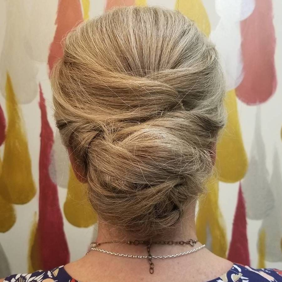 stylish long hairstyles for older women chignon updo chignons