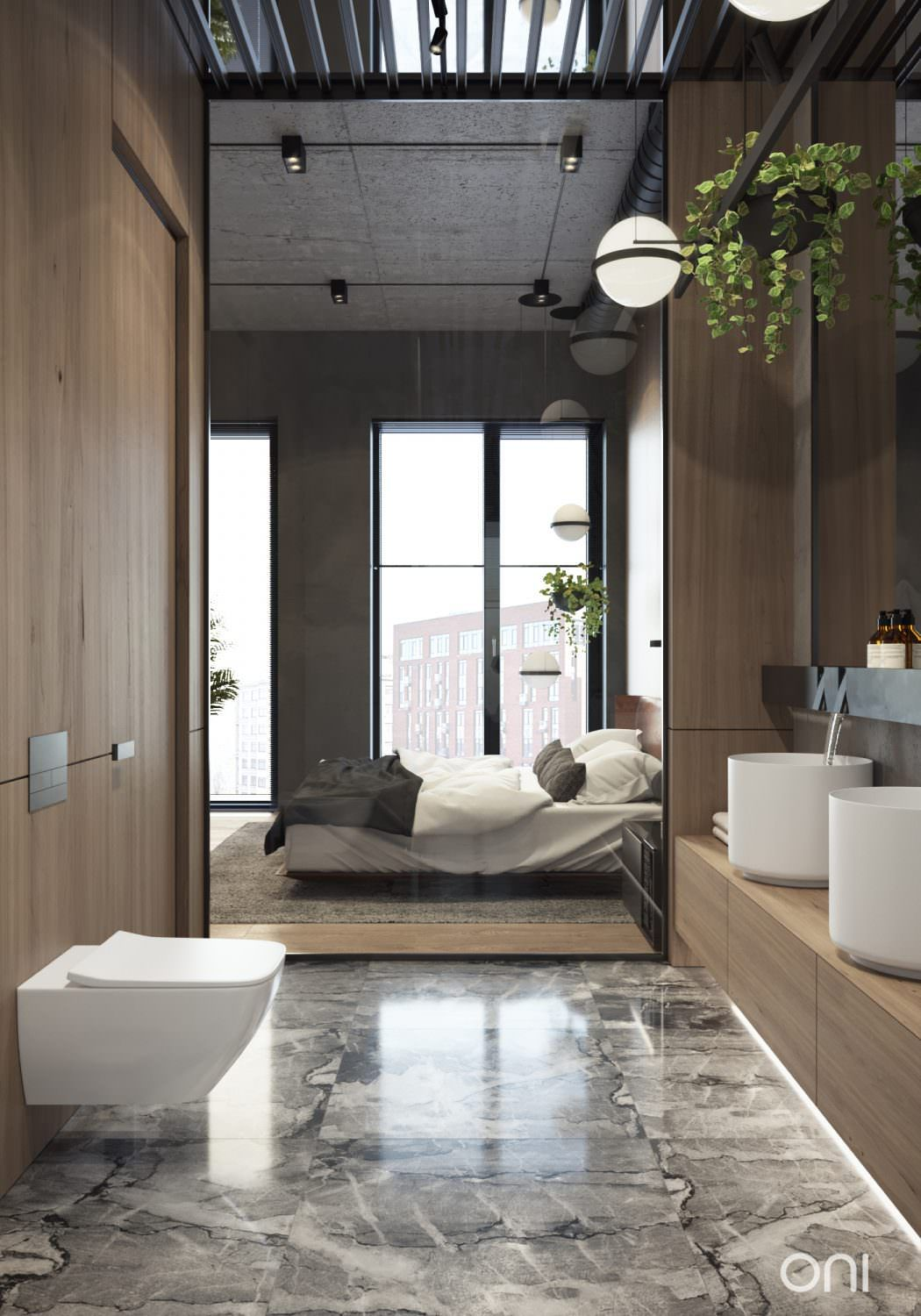 Loft bedroom and bathroom ideas  Cozy Loft by ONI Architects  HSDesign  Pinterest  Lofts Cozy